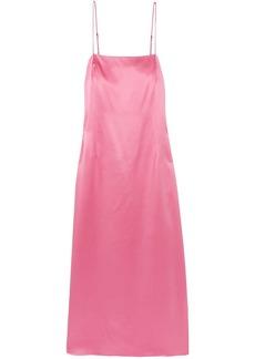 Adam Lippes Woman Silk-satin Midi Slip Dress Baby Pink