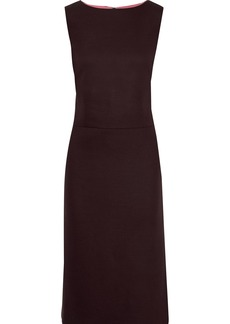 Adam Lippes Woman Stretch-twill Dress Burgundy