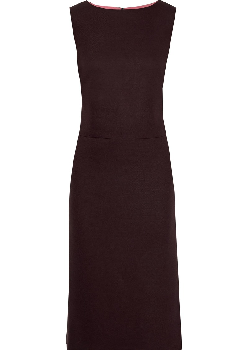 Adam Lippes Woman Stretch-twill Dress Burgundy