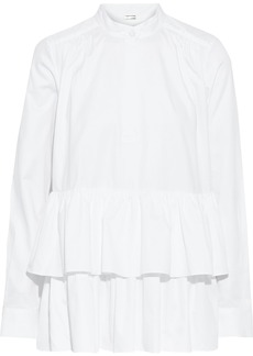Adam Lippes Woman Tiered Ruffled Cotton-poplin Top White