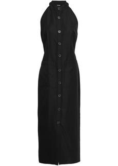 Adam Lippes Woman Wool-blend Tulle Midi Dress Black