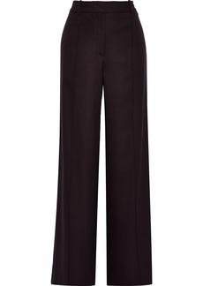 Adam Lippes Woman Woven Wide-leg Pants Dark Purple