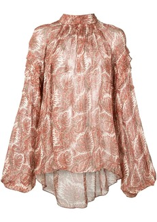 Adam Lippes all-over print blouse