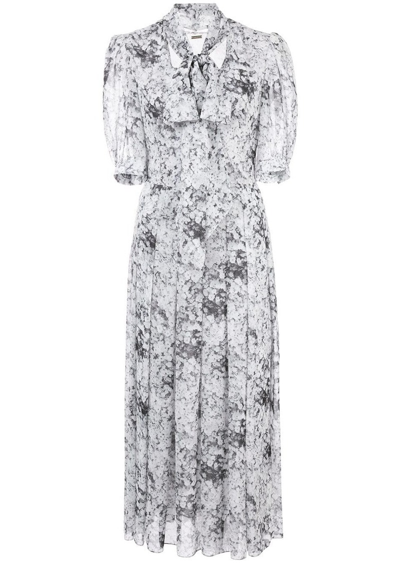 Adam Lippes bow neck midi dress