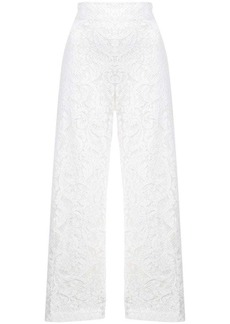 Adam Lippes corded lace cropped trousers