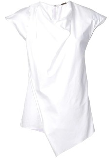 Adam Lippes cowl neck asymmetric blouse