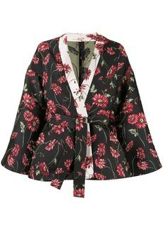 Adam Lippes daisy-jacquard kimono jacket