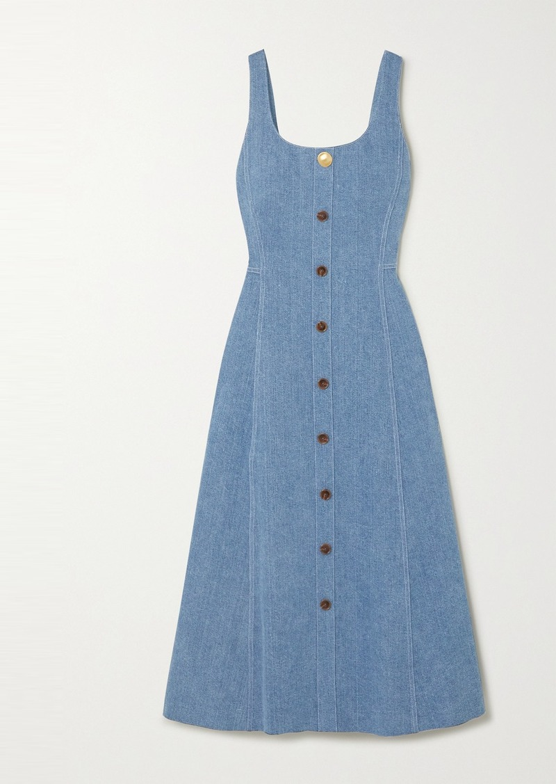 Adam Lippes Denim Midi Dress