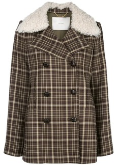 Adam Lippes double-breasted plaid jacket