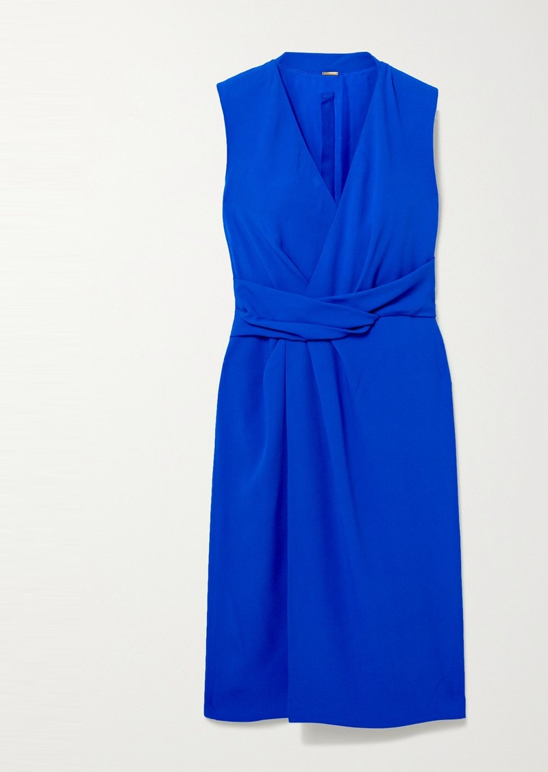 Adam Lippes Draped Wrap-effect Crepe Dress