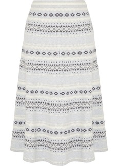Adam Lippes Fair Isle Knitted Midi Skirt