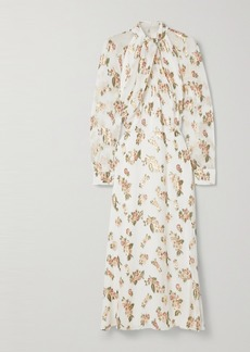 Adam Lippes Fil Coupé Silk-chiffon Midi Dress