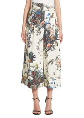 Adam Lippes Floral Cotton Poplin Pants