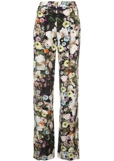 Adam Lippes floral high-waist trousers