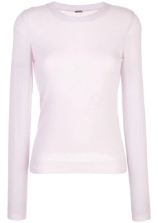 Adam Lippes floral knit top