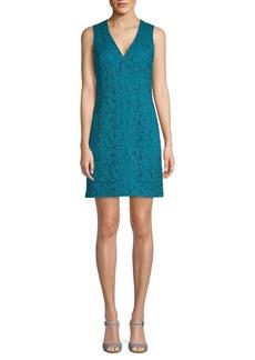 Adam Lippes Floral Lace Mini Dress