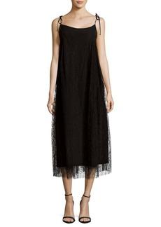 Adam Lippes Floral-Lace Trapeze Dress