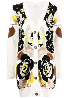 Adam Lippes floral-pattern intarsia cardigan