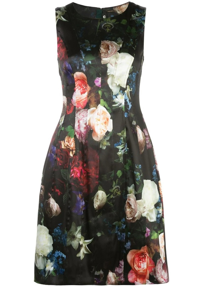 Adam Lippes floral print flared dress