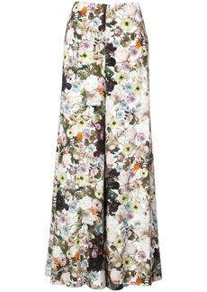 Adam Lippes floral print wide leg trousers