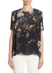 Adam Lippes Floral Silk Blouse