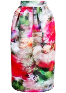 Adam Lippes high-waisted floral print skirt