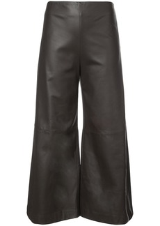 Adam Lippes leather wide leg cropped culottes