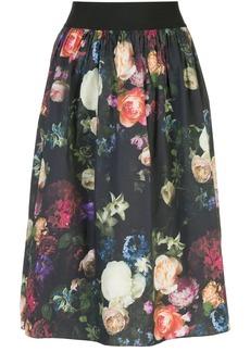Adam Lippes multi floral full skirt