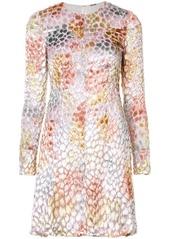 Adam Lippes painted textured mini dress
