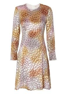 Adam Lippes Painted Velvet Jacquard Dress