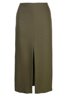 Adam Lippes pencil skirt with front slit
