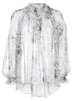 Adam Lippes pintuck bow blouse