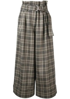 Adam Lippes plaid wide-leg trousers