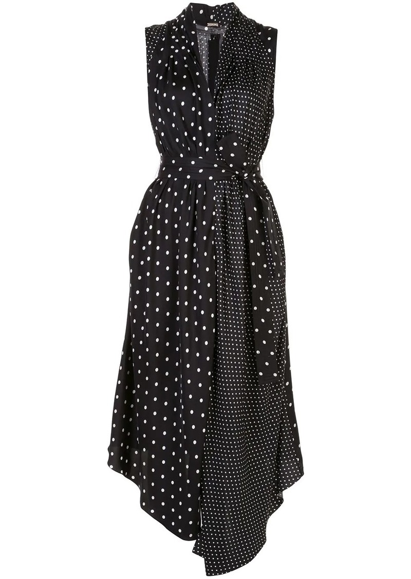 Adam Lippes polka-dot asymmetrical dress