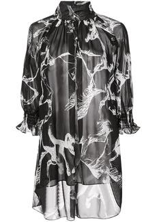 Adam Lippes Pony print blouse