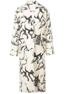Adam Lippes Pony print midi coat