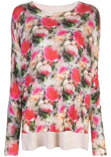 Adam Lippes printed knitted top