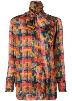 Adam Lippes removable scarf blouse