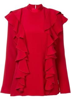 Adam Lippes ruffle front blouse
