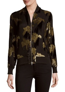 Adam Lippes Sequined Bomber Jacket