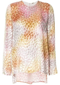 Adam Lippes sheer patterned blouse