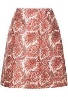 Adam Lippes short paisley skirt