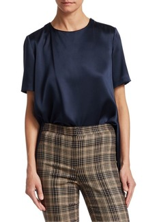 Adam Lippes Silk Charmeuse Crossback Blouse
