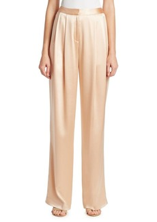 Adam Lippes Silk Charmeuse Pleat Front Pants
