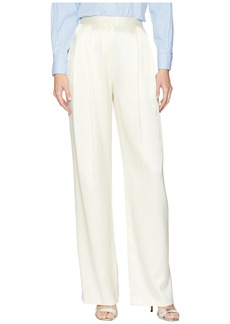 Adam Lippes Silk Charmeuse Pleat Front Trousers