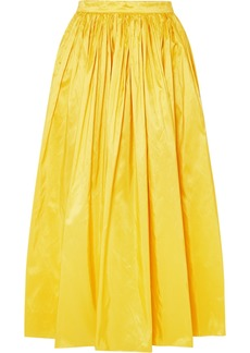 Adam Lippes Silk-taffeta Midi Skirt