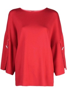 Adam Lippes slit sleeve knitted top