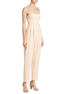 Adam Lippes Stretch Cady Bustier Jumpsuit