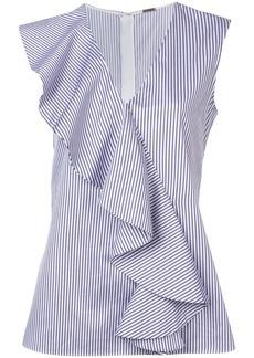 Adam Lippes striped ruffle blouse
