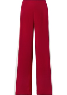 Adam Lippes Striped Silk-crepe Wide-leg Pants